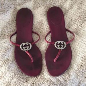 FINAL price drop used Authentic Gucci flip flops